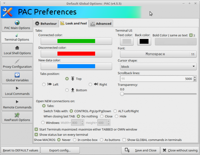 PAC-v4.5.5-Terminal-options